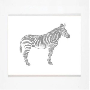Smiling Hill - Zebra Wall Art
