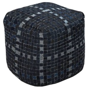 Chelsea Square - Denim Pouf