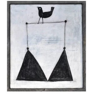 Smiling Hill - Bird on a Wire Wall Art