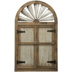 Rustic Barn Door Mirror