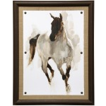 Rustic Horse I Framed Textured Print
