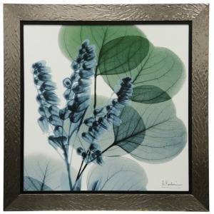 Gingko Leaves with Pods Textured Framed Print