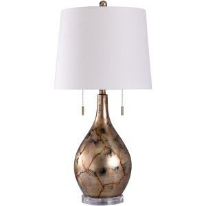 Nudar Gold Ornate Painted Natural Stone Design Table Lamp