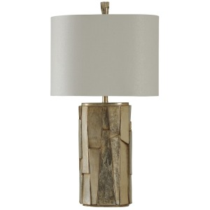 Laslo Finish Transitional Lamp with Drum Shade