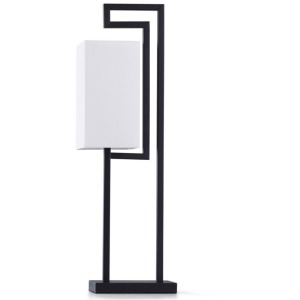 Satin Black Accent Lamp