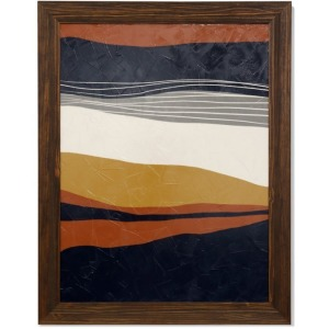 Abstract Textured Framed Print
