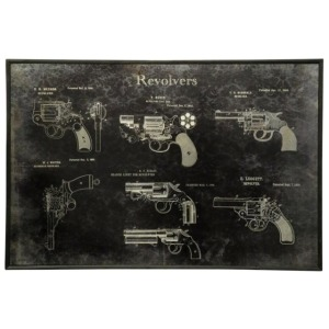 Gun Collection Printed on Metal Mounted on Wood