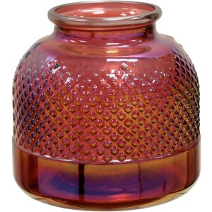 Diamond Stud Red Pearl Vase
