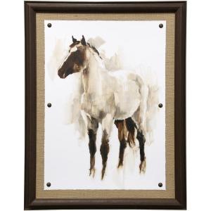 Rustic Horse II Framed Textured Print