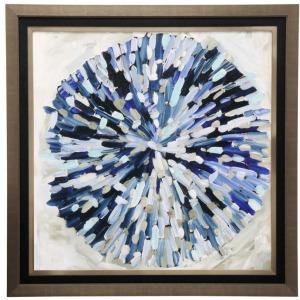 Blue Burst Textured Print