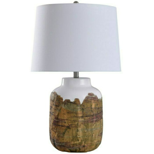 Canyon Rustic Earthtone Textured Ceramic Body Table Lamp