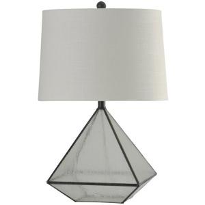 Burke Bronze Medallion Glass Pane Table Lamp