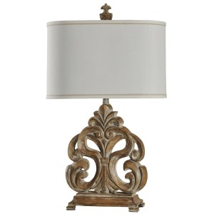 Traditional Scroll Pattern Table Lamp