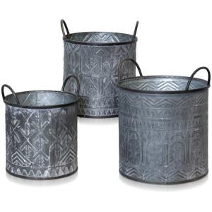 3 Metal Pots