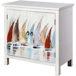Skylar Hand Painted Cabinet