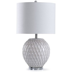 Quilted Ceramic Table Lamp