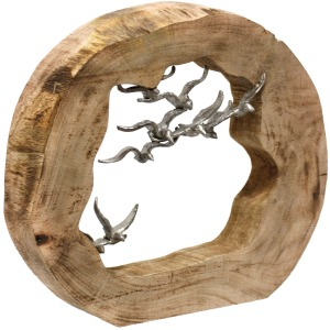Natural Wood Table Top Carved Sculpture