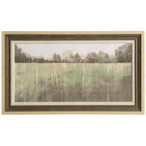 Green Field III Textured Framed Print