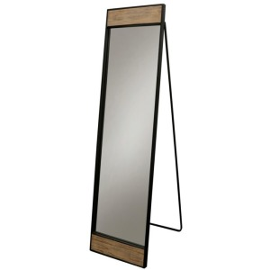 Natural Industry Large Leaver Mirror in Black