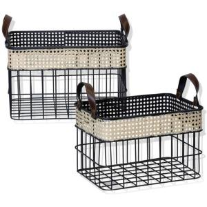 2 Metal Baskets