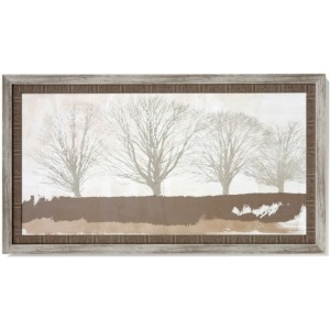 Tree Lines Textured Framed Print