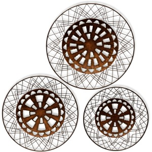 Bronze Aztec Metal Wall Art - Set of 3
