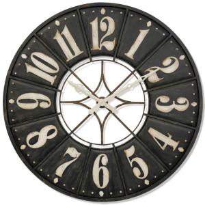 Big Time Large Modern Industrial Metal Wall Clock