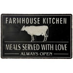 Large Rustic Farmhouse Stamped Metal Wall Plaque