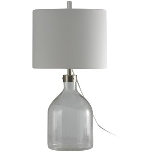 Clear Seeded Glass Table Lamp w/ French Wire