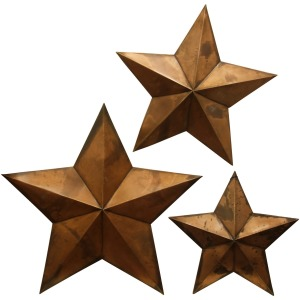 Copper Capitals Alternative Dimensional Metal Wall Art - Set of 3