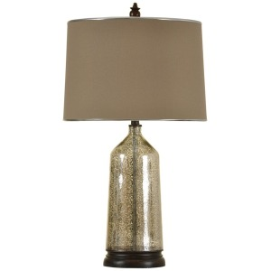 Cordova Mercury Glass Bottle Neck Table Lamp