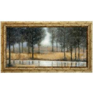Golden Mirror Creek Textured Framed Print
