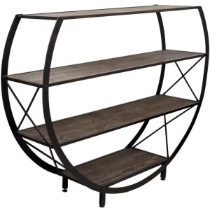 Santa Monica Circle Bookcase