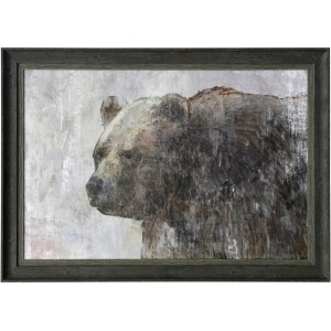 Bears Gaze Textured Framed Print