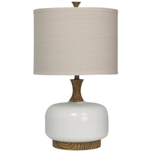 Transitional Wood & Ceramic Table Lamp