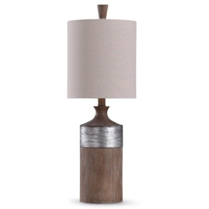 Darley Resin Table Lamp w/Textured Silver Painted Accent