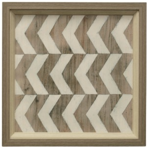 Driftwood Geometry III Framed Textured Print