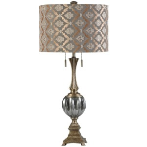 Beverly Transitional Glass Accent Table Lamp