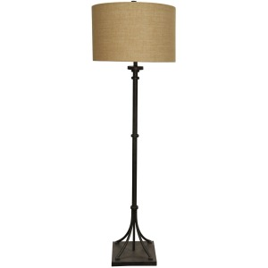 Industrial Bronze Transitional Iron Base Floor Lamp