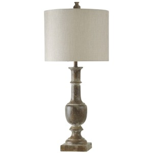Baluster Design Table Lamp in Chatham Finish with Drum Shade
