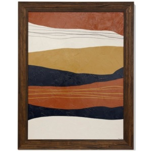 Abstract II Textured Framed Print