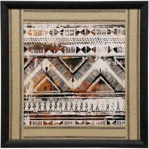 African Patterning I Framed Print Under Glass