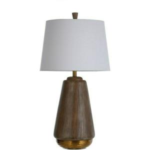 Bondi Gold Faux Wood Table Lamp