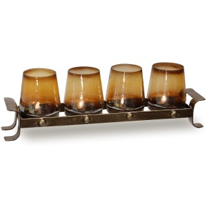 Amber Stemless Candle Votives
