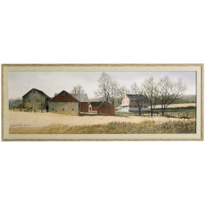 Elder Farm Textured Framed Print