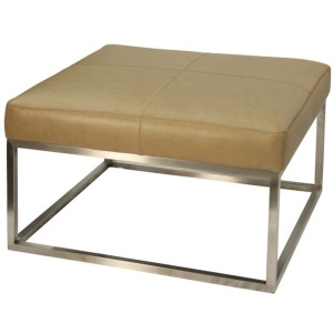 Genuine Camel Leather Ottoman