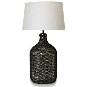 Webbed Glass Metal Mesh Net Table Lamp
