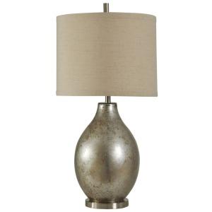 Mercury Glass & Metal Table Lamp