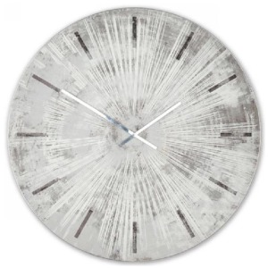 Gray Star Metal & Wood Wall Clock