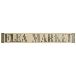 Metal & Wooden Flea Market Wall Signage